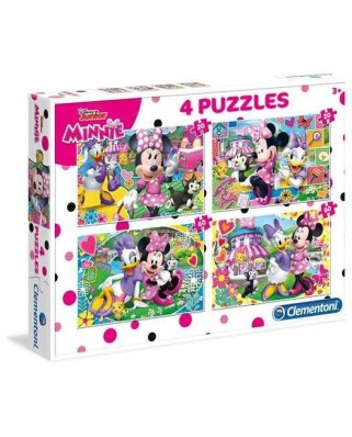 Puzzle Clementoni - Minnie, 20, 20, 60 and 60 piese (62340)