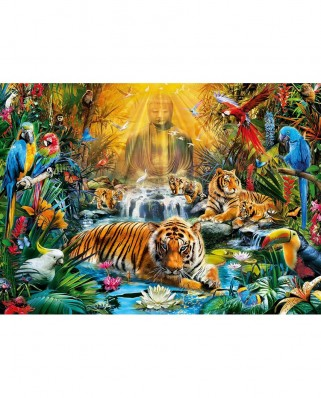 Puzzle Clementoni - Mysterious Tiger, 1.000 piese (60902)