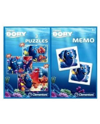 Puzzle Clementoni - Nemo + Memo, 2x20/100 piese (57101)