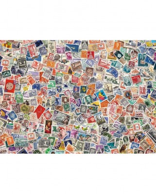 Puzzle Clementoni - Stamps, 1.000 piese (60909)