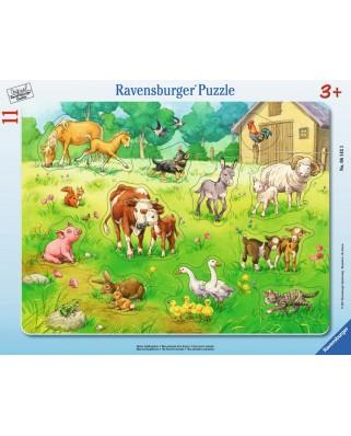 Puzzle Ravensburger - Animalele Mele, 11 piese (06143)