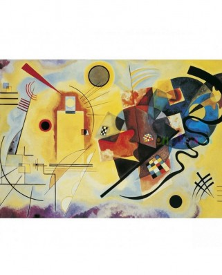 Puzzle Clementoni - Vassily Kandinsky: Yellow - Red - Blue, 1000 piese (6323)