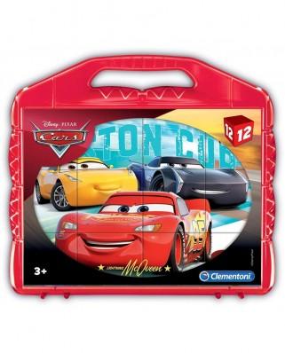 Puzzle cuburi Clementoni - Cars, 12 piese (65267)