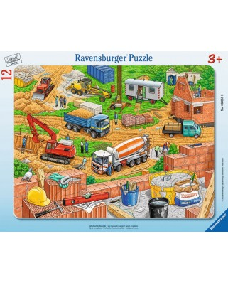 Puzzle Ravensburger - Santier, 12 piese (06058)