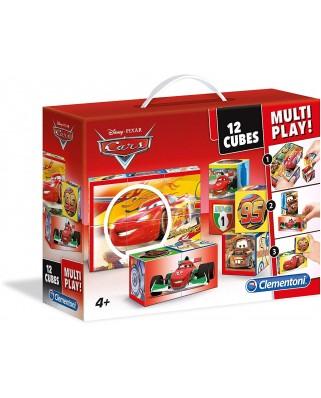 Puzzle cuburi Clementoni - Cars, 12 piese (65272)