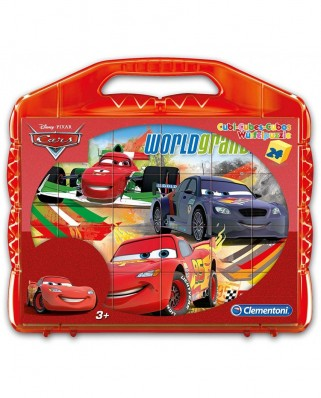 Puzzle cuburi Clementoni - Cars, 24 piese (65274)