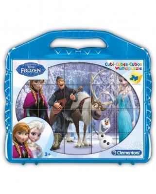 Puzzle cuburi Clementoni - Frozen, 24 piese (65247)