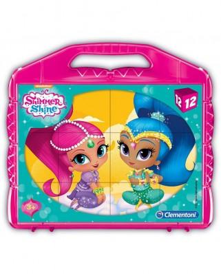 Puzzle cuburi Clementoni - Shimmer & Shine, 12 piese (65268)