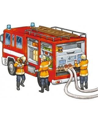 Puzzle Ravensburger - Pompieri, 14 piese (06092)