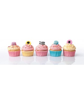 Puzzle panoramic Clementoni - Cupcakes, 1.000 piese (62409)