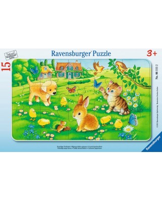 Puzzle Ravensburger - Animale Dragalase, 15 piese (06111)