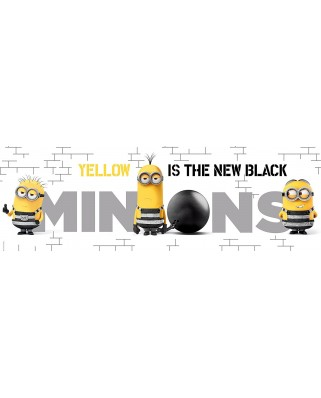 Puzzle panoramic Clementoni - Minions - Yellow is the New Black, 1.000 piese (62327)