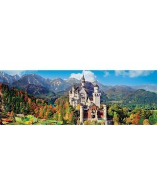 Puzzle panoramic Clementoni - Neuschwanstein, Germany, 1.000 piese (62416)