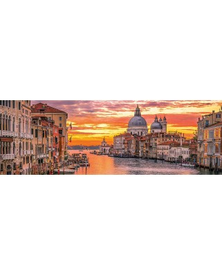 Puzzle panoramic Clementoni - Venice, 1.000 piese (62410)
