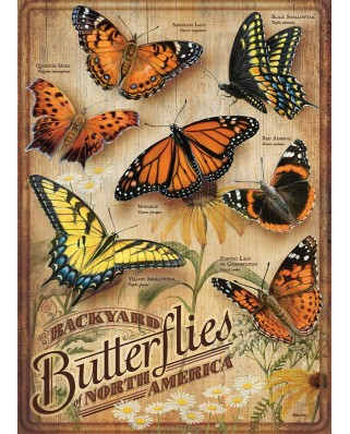 Puzzle Cobble Hill - Backyard Butterflies, 500 piese XXL (65004)