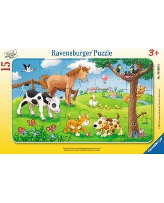 Puzzle Ravensburger - Animale Prieteni, 15 piese (06066)