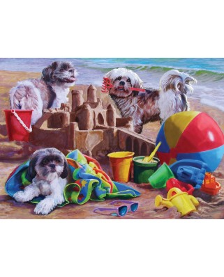 Puzzle Cobble Hill - Beach Puppies, 1.000 piese (44352)