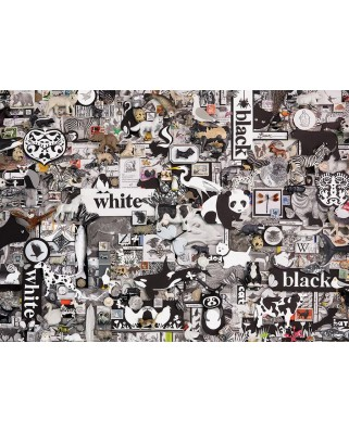 Puzzle Cobble Hill - Black & White: Animals, 1.000 piese (64979)