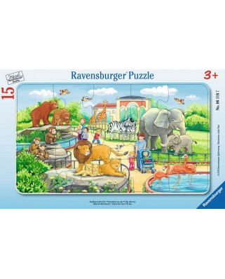 Puzzle Ravensburger - Calatorie La Zoo, 15 piese (06116)