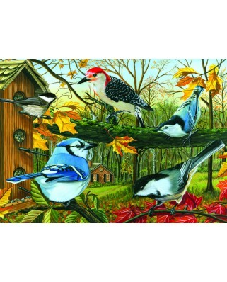 Puzzle Cobble Hill - Blue Jay and Friends, 1.000 piese (44586)