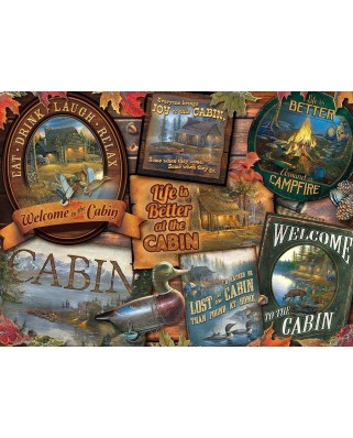 Puzzle Cobble Hill - Cabin Signs, 1.000 piese (64982)