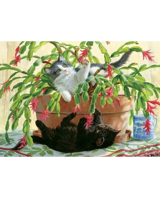 Puzzle Cobble Hill - Cactus Kitties, 1.000 piese (64977)