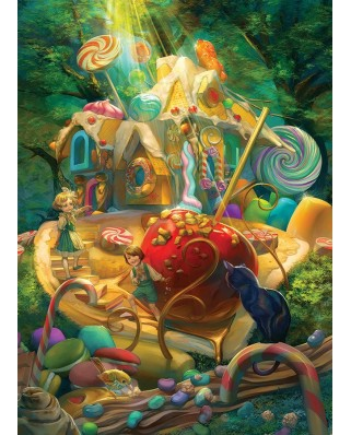Puzzle Cobble Hill - Candy Cottage, 350 piese XXL (64928)