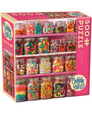 Puzzle Cobble Hill - Candy Shelf, 500 piese XXL (64946)