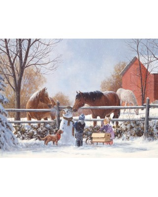 Puzzle Cobble Hill - Chestnut and Acorn, 35 piese XXL (44567)