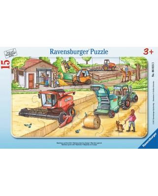 Puzzle Ravensburger - Masinarii, 15 piese (06015)