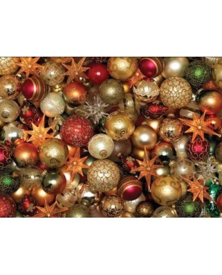 Puzzle Cobble Hill - Christmas Balls, 500 piese XXL (65010)