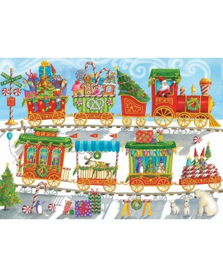 Puzzle Cobble Hill - Christmas Train, 350 piese XXL (64927)