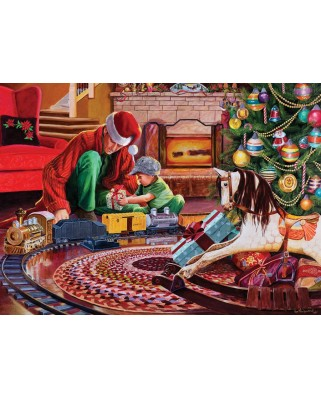 Puzzle Cobble Hill - Christmas Tree Train, 1.000 piese (44346)