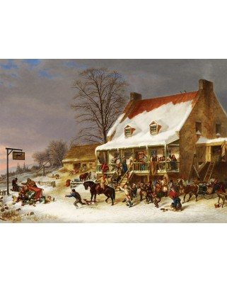 Puzzle Cobble Hill - Cornelius Krieghof: Breaking up of a Country Ball, 1.000 piese (56081)