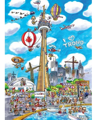 Puzzle Cobble Hill - DoodleTown: Toronto, 1.000 piese (47573)