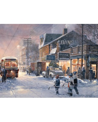 Puzzle Cobble Hill - Douglas Laird: Hockey Night, 275 piese XXL (44539)
