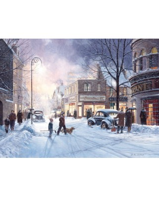 Puzzle Cobble Hill - Douglas Laird: Winter Evening, 500 piese XXL (44382)