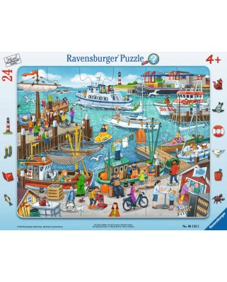 Puzzle Ravensburger - O Zi In Port, 24 piese (06152)