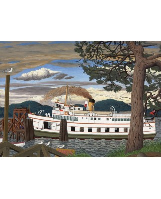 Puzzle Cobble Hill - EJ Hughes: The Car Ferry at Sidney BC, 1.000 piese (56080)