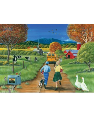 Puzzle Cobble Hill - First Day of School, 1.000 piese (44325)