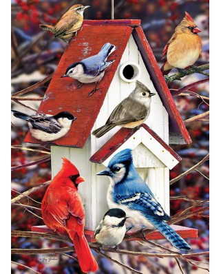 Puzzle Cobble Hill - Greg Giordano: Winter Birdhouse, 1000 piese (56087)