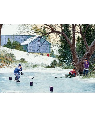 Puzzle Cobble Hill - Hockey Drills, 500 piese XXL (65001)