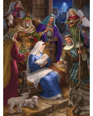 Puzzle Cobble Hill - Holy Night, 400 piese (48125)