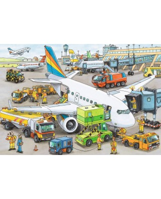 Puzzle Ravensburger - Aeroport Ocupat, 35 piese (08603)