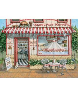 Puzzle Cobble Hill - Janet Kruskamp: Hamburger Haven, 500 piese XXL (44402)