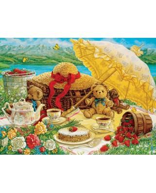 Puzzle Cobble Hill - Janet Kruskamp: Teddy Bear Picnic, 500 piese XXL (56105)