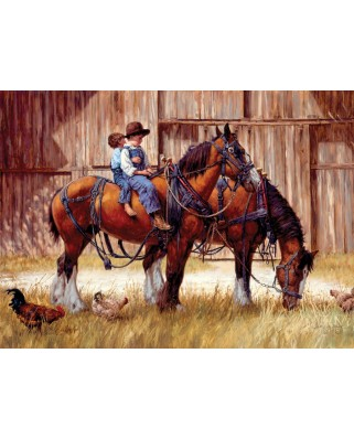 Puzzle Cobble Hill - Jim Daly: Back to the Barn, 1.000 piese (44366)