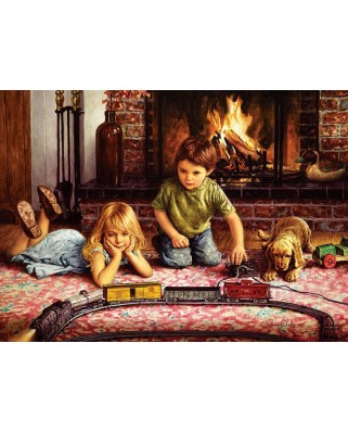 Puzzle Cobble Hill - Jim Daly: Firelight Express, 1.000 piese (56098)