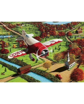 Puzzle Cobble Hill - Mike Bennett: Gee Bee Over New England, 1.000 piese (58265)