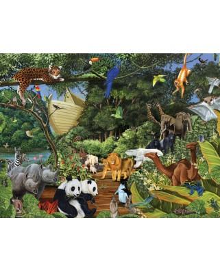 Puzzle Cobble Hill - Noah's Gathering, 400 piese (44444)